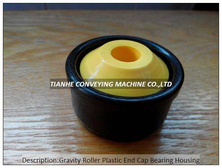 gravity roller plastic end cap bearing housing, gravity roller plastic end cover