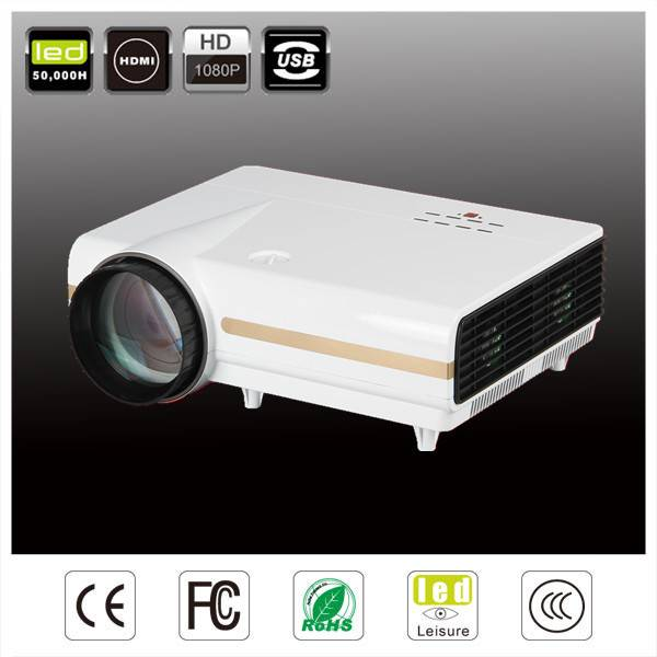 720P 1280*768 3D led projector portable projector full HD HDMI blue-ray 3D proyector