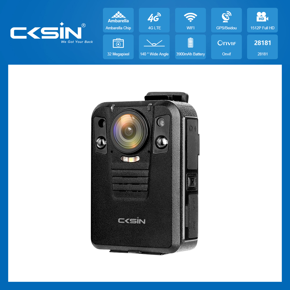 IP66 GPS Infrared night vison 4G Body Camera for law enforcement