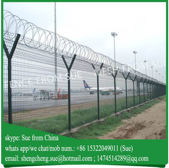 High security airport fence with razor barbed wire sell to West Asia