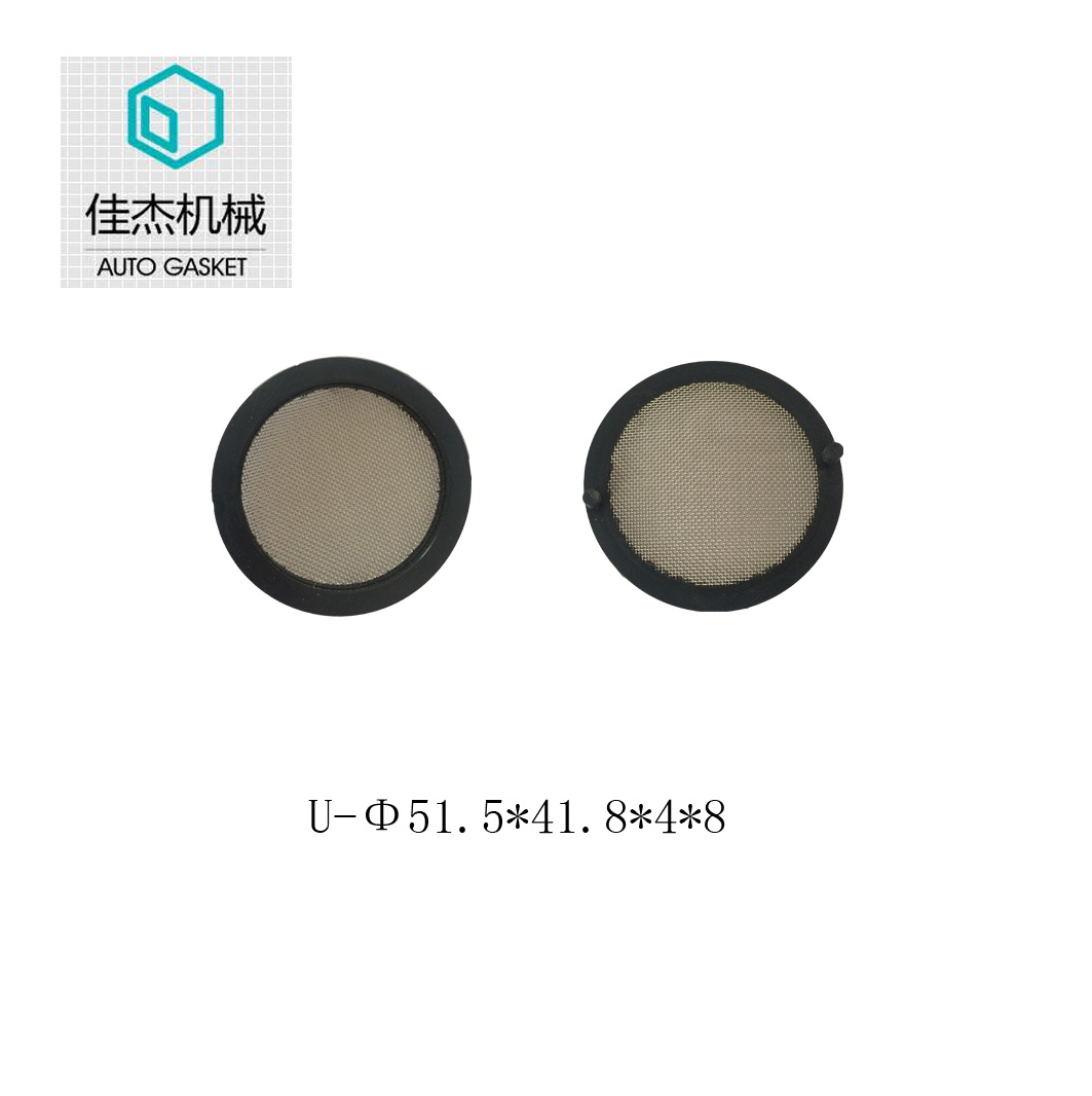 rubber wrapping filter mesh gasket