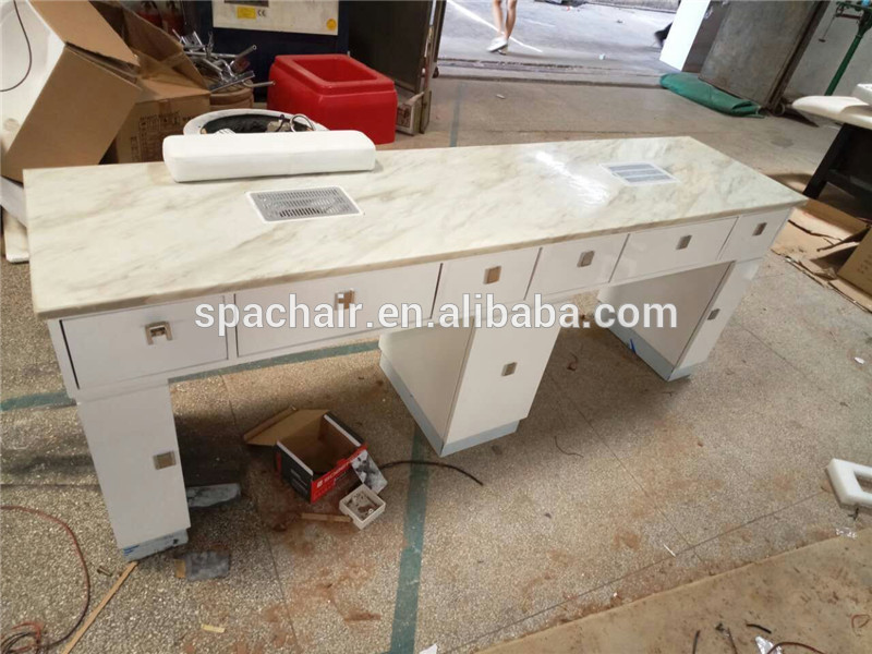 Double Portable Nails Care Furniture Nail Table For Sale