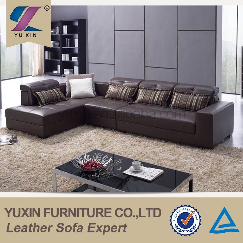 100% full top grain cowhide leather sofa
