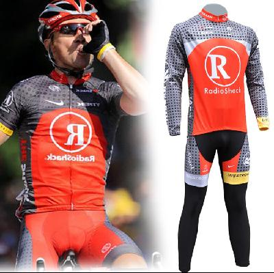 Men's Team Bicycle Cycling Suit Long Sleeves Jersey Bike Racing Sport Suit Sets