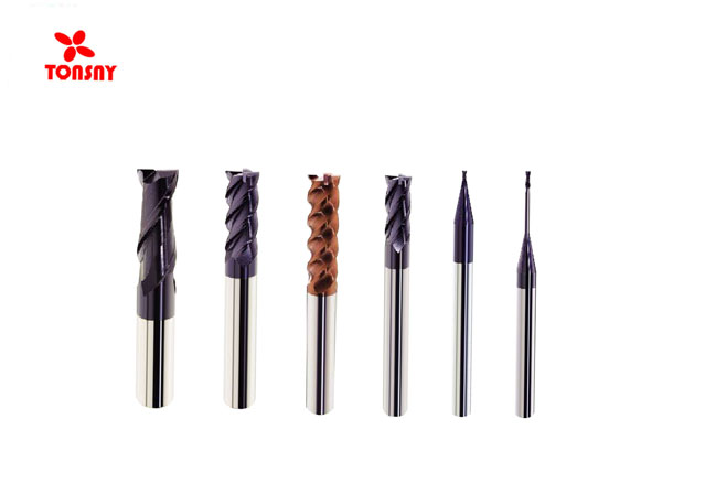 HRC60 Degree 2/4flutes Taiwan Solid Carbide Long Neck Square end mill for Steel and Stainless Steel