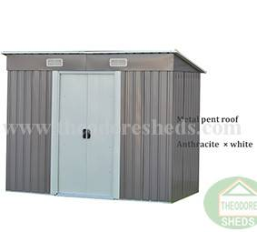 Theodore Sheds Company ST-PE/AP series garden storage sheds