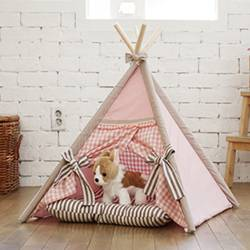 PET'S TENT_pink check