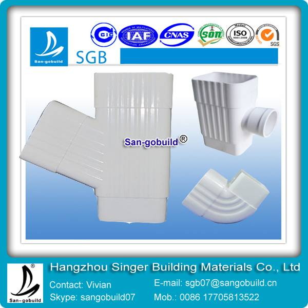 Good quality extrusion plastic PVC gutters