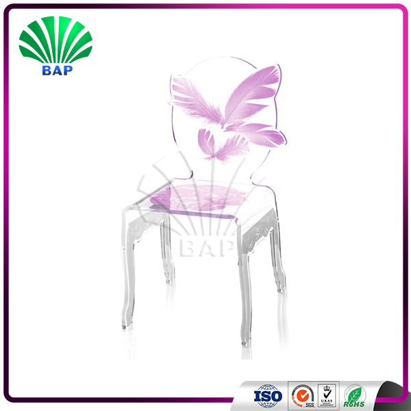2017 New Fashion Plastic Barber Chair Hot Selling Dining Chair Acrylic Living Room Chairs
