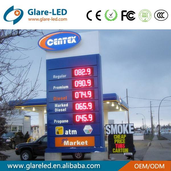 Outdoor led gas price changer