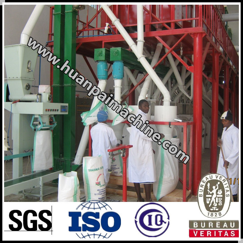 50 ton per day maize milling plant/corn grits machine/maize flour machine