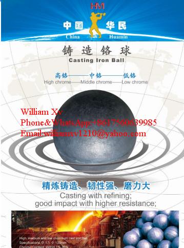Grinding cast ball