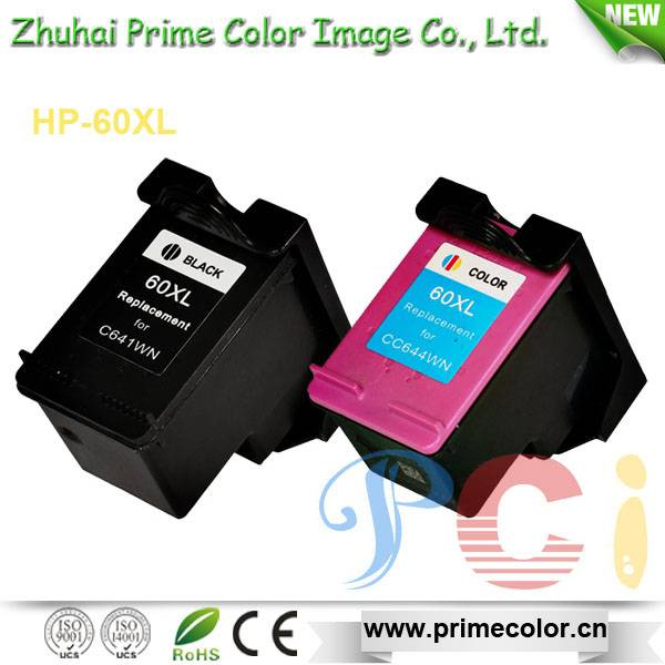 Remanufactured Ink Cartridge for HP CC641WN/ CC644WN 60XL