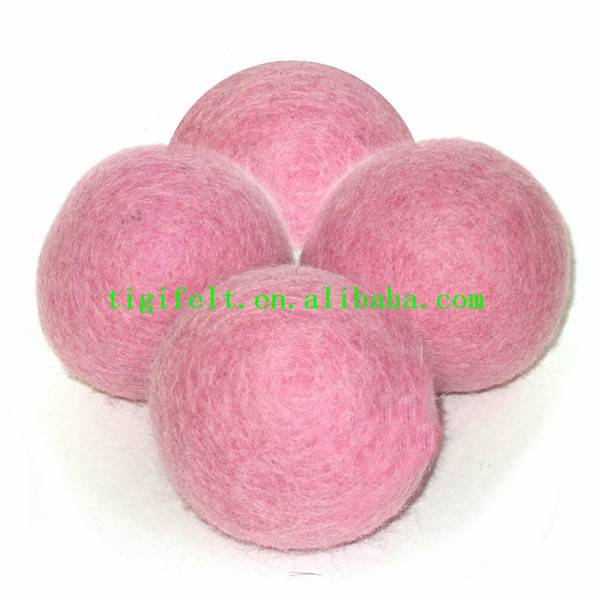 Natural wool dryer ball, no dye, no bleach