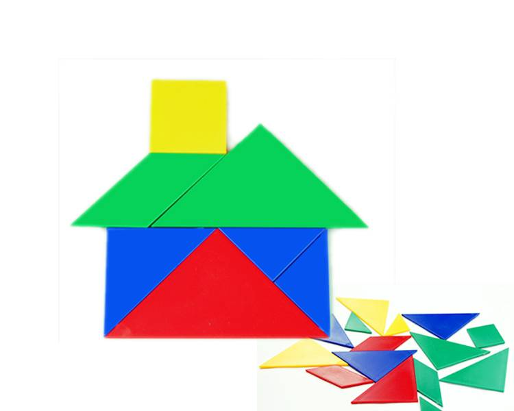 Wholesale Educational Toys and Teaching Manipulative of Pattern Blocks for Kids Learning in Classroo