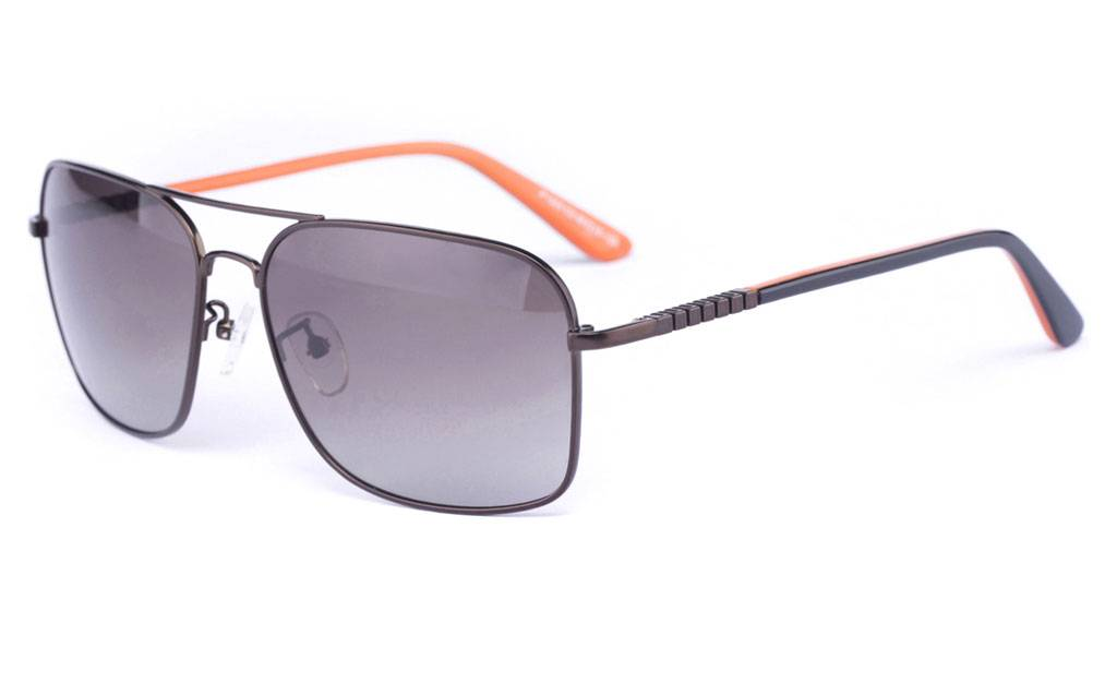 Brown P1333 Full Rim Square Metal-Stainless Steel Glasses