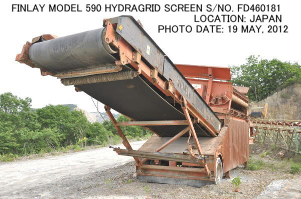 "USED ""FINLAY"" MODEL 590 SEMI-PORTABLE HYDRAGRID SCREEN S/NO. FD460181."