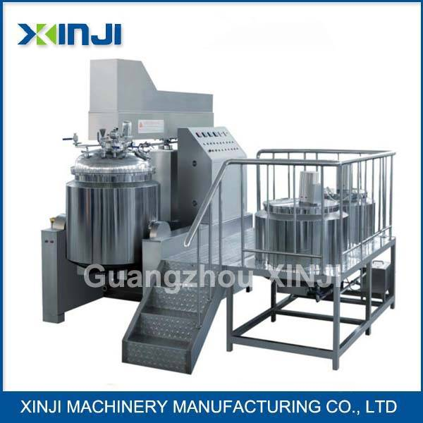 Cosmetic cream vacuum mixing machine factory in Guangzhou China