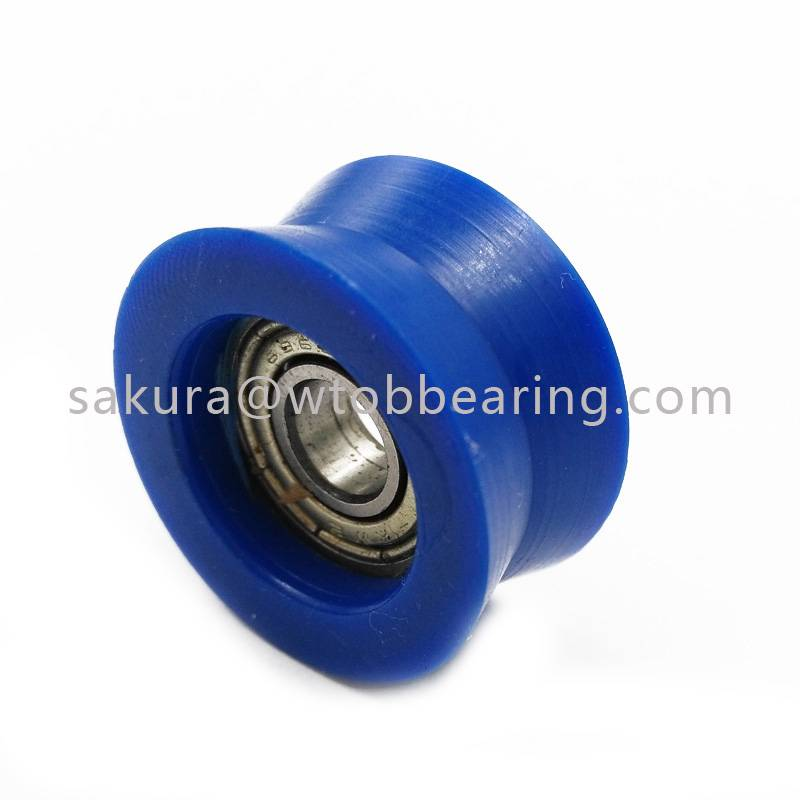 Carbon / Chrome Steel 696ZZ Ball Bearing With POM Coating pulley