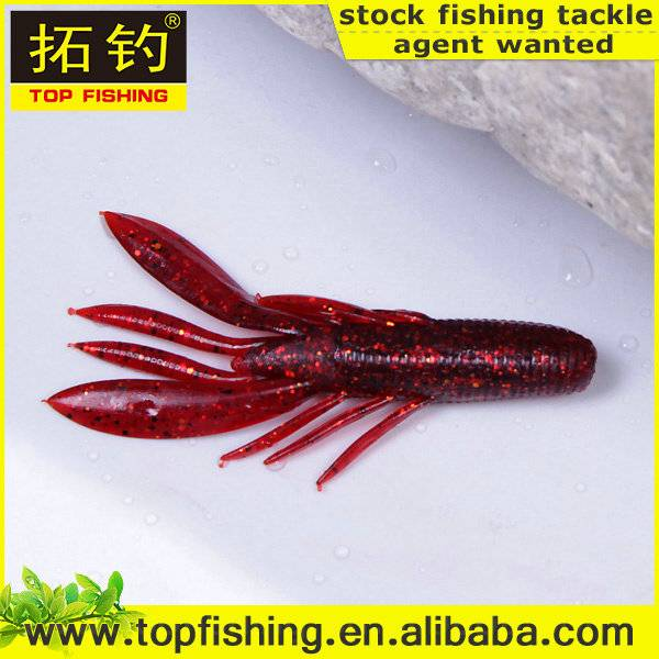 80mm/ 7.7g/fastsinking/wholesale soft plastic fishing lure shrimp