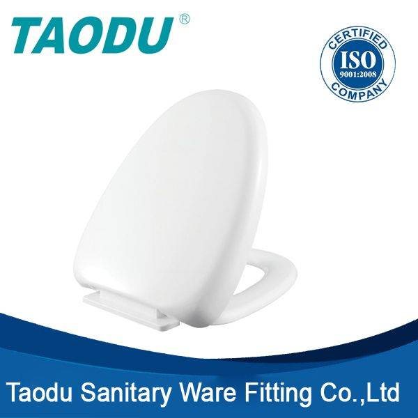 chaozhou white plastic toilet seat cover with soft close hinge  TD-327