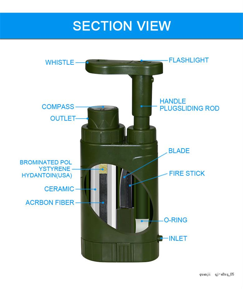 Multi function Mini outdoor water filter