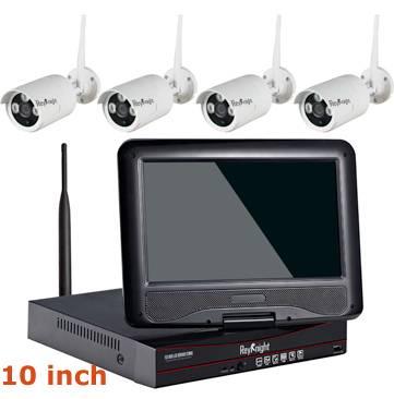 4CH WIFI 10inch WIFI Real Plug&Play LCD NVR Kit