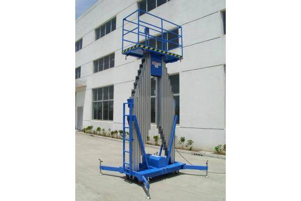 single mast hydraulic alloy material lift table