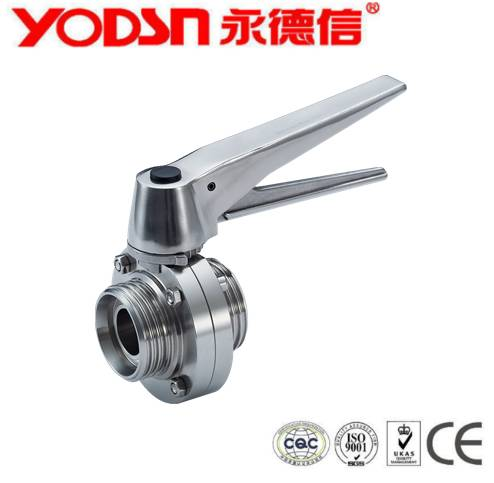 Stainless Steel  Sanitary Threaded butterfly valve