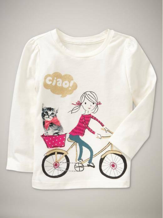 gapbb long t-shirt  children girl t-shirt