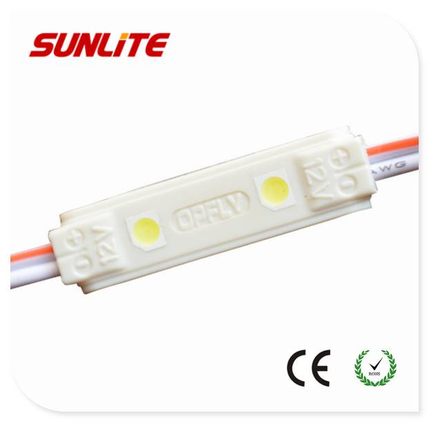 2-LED SMD3528 led module/ 0.3w led injection module/ 12v smd led pcb module