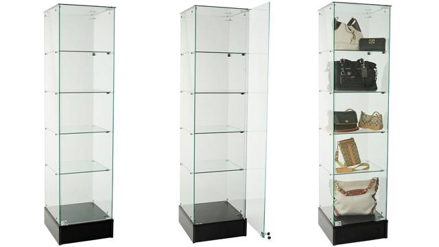 Supermarket popular using Frameless Tower Showcase