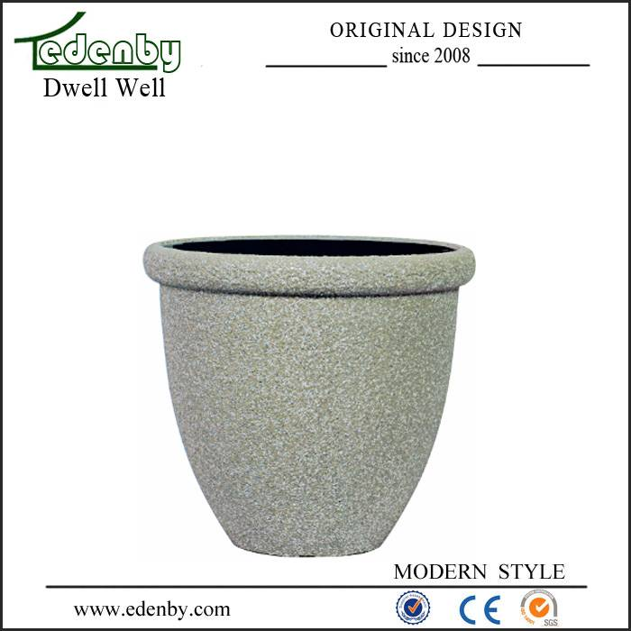 outdoor lightweight stone finishing flower pot