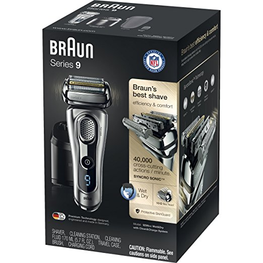 BRAUN SERIES 9 9290CC Wet & Dry Electric Shaver for Men with Clean & Charge System, Premium Silver C