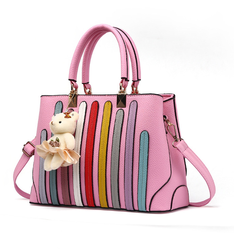 Factory wholesale personalized women pu leather tote bag ladies handbag manufacturers