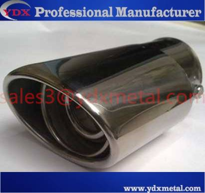 stainless steel car exhaust pipe /decoration steel muffler pipe