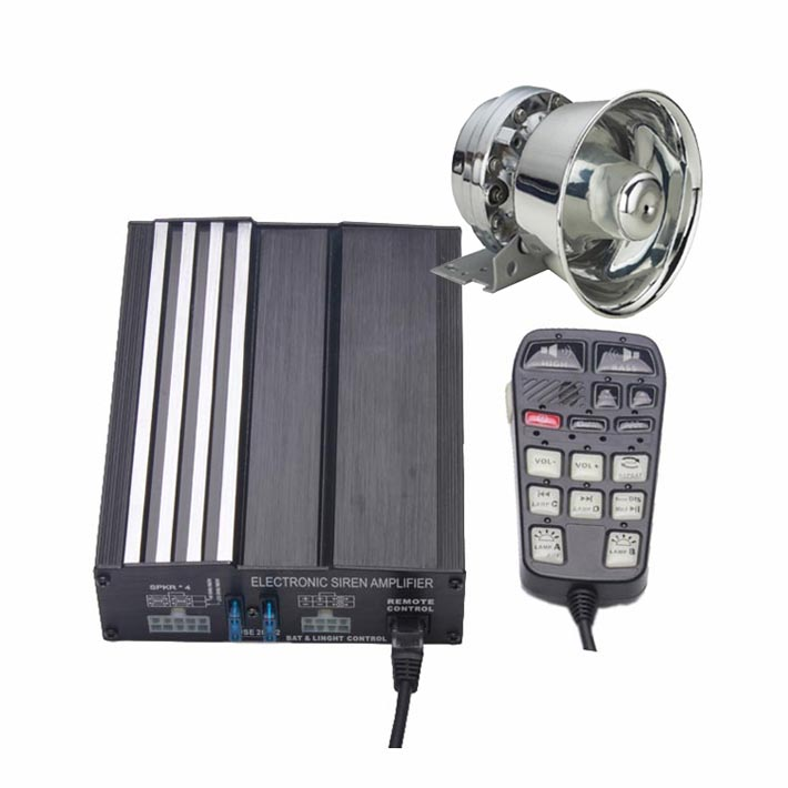 100W Car Siren Kit with Speaker Remote 20 Tones Can play Custom-made MP3 Sounds