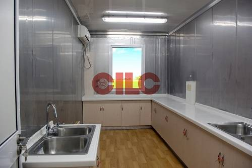 offshore accommodation container with kitchen and laundry