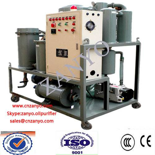 ZYT High-Ranking Vacuum Turbine Oil Purifier Online Working