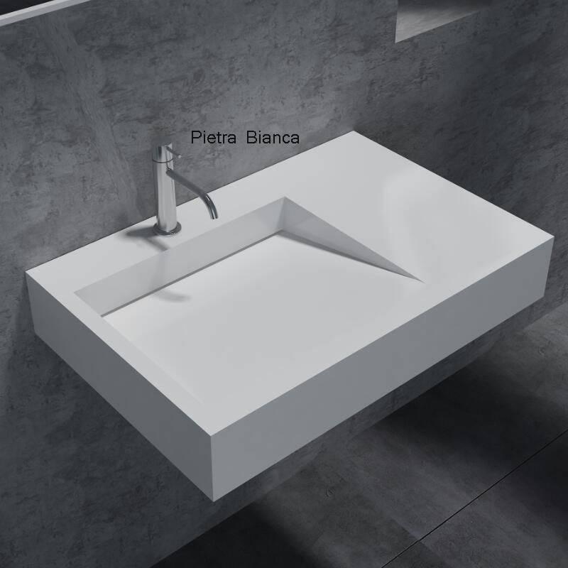 Popupar Solid Surface Wall-Hung Basin (PB2014)