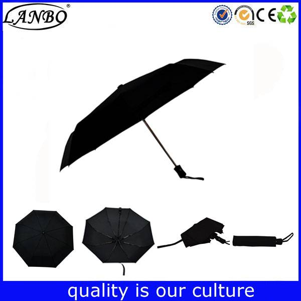Top quality 3 fold travel umbrella auto open close sun umbrella