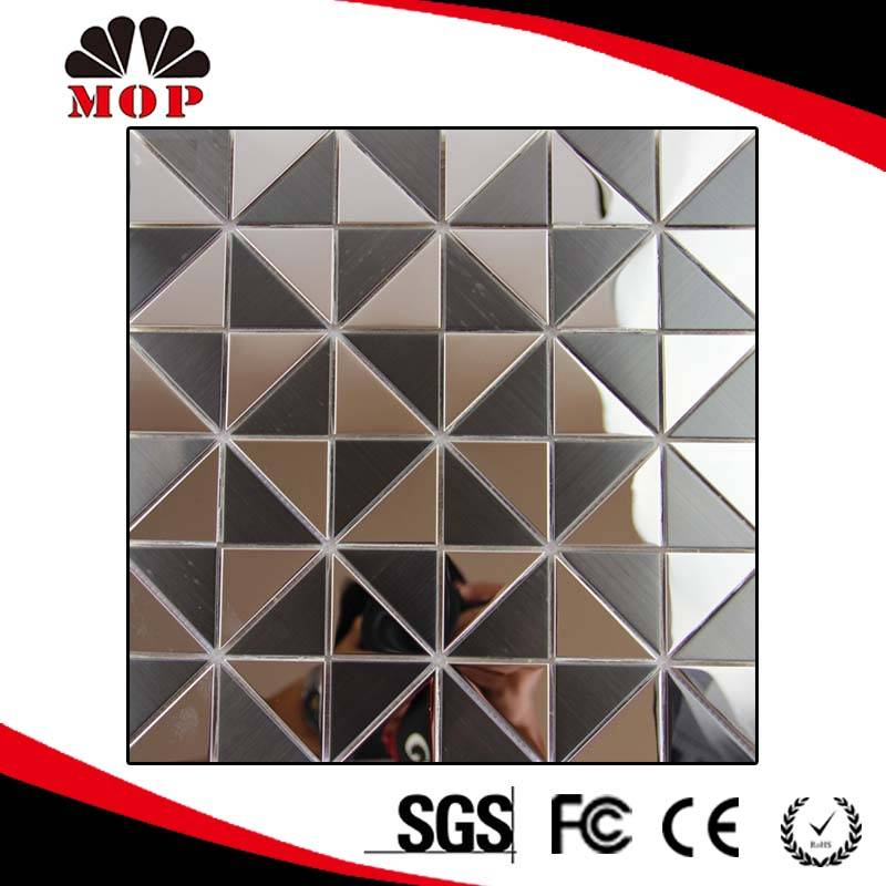 Triangle Interior Exterior Decoration Metal Stainless Steel Mosaic