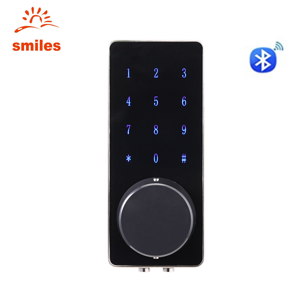 Bluetooth Electronic Touch Screen Code Door Lock With Unlocking Smartphone App, Password, Key