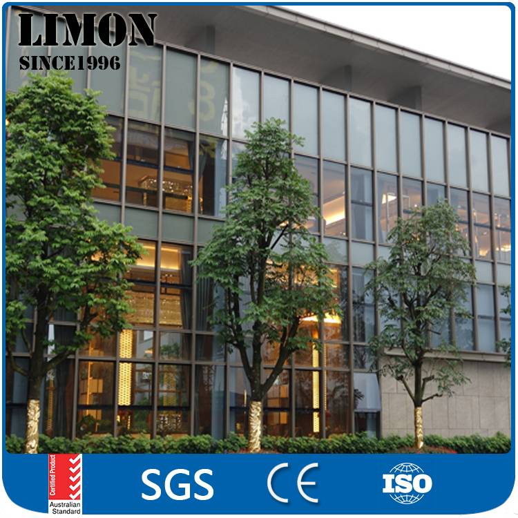 Structural stability aluminum glass curtain walls for working building