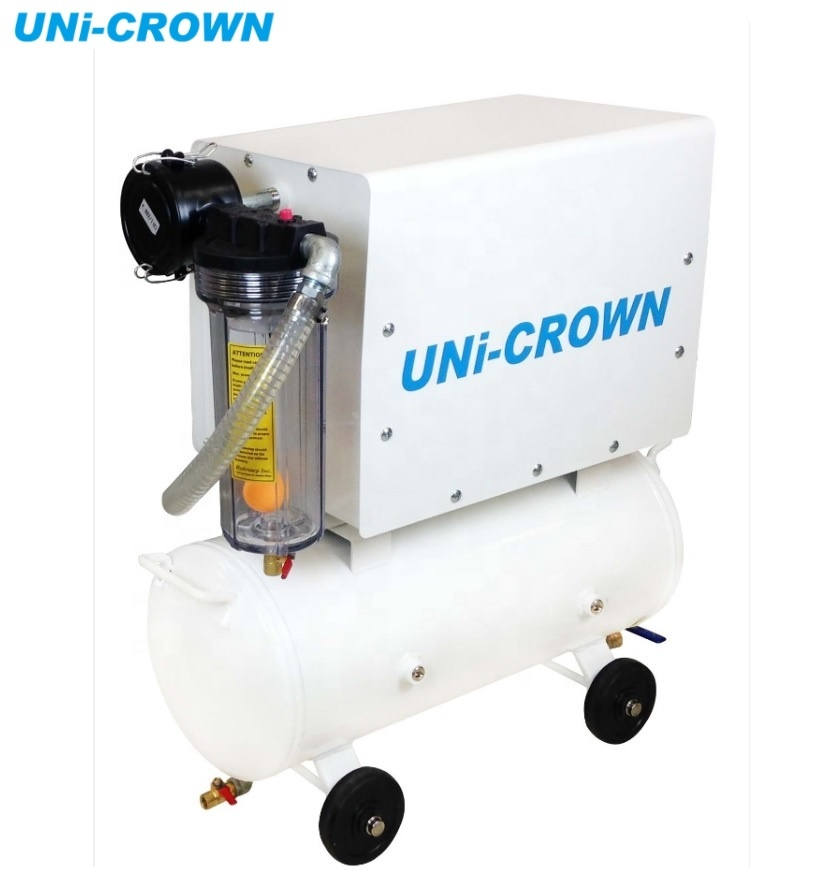 UN-300VT-CNC AC 220V electric oil-less CNC milling machine, vacuum system, vacuum pump for CNC