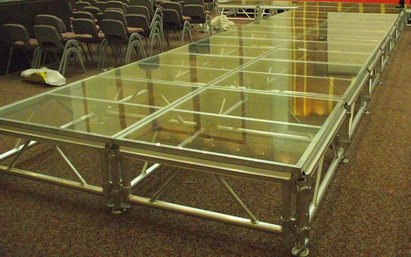 Aluminum Outdoor Stage, non-slip surface, Trussing stage platform adjustable height