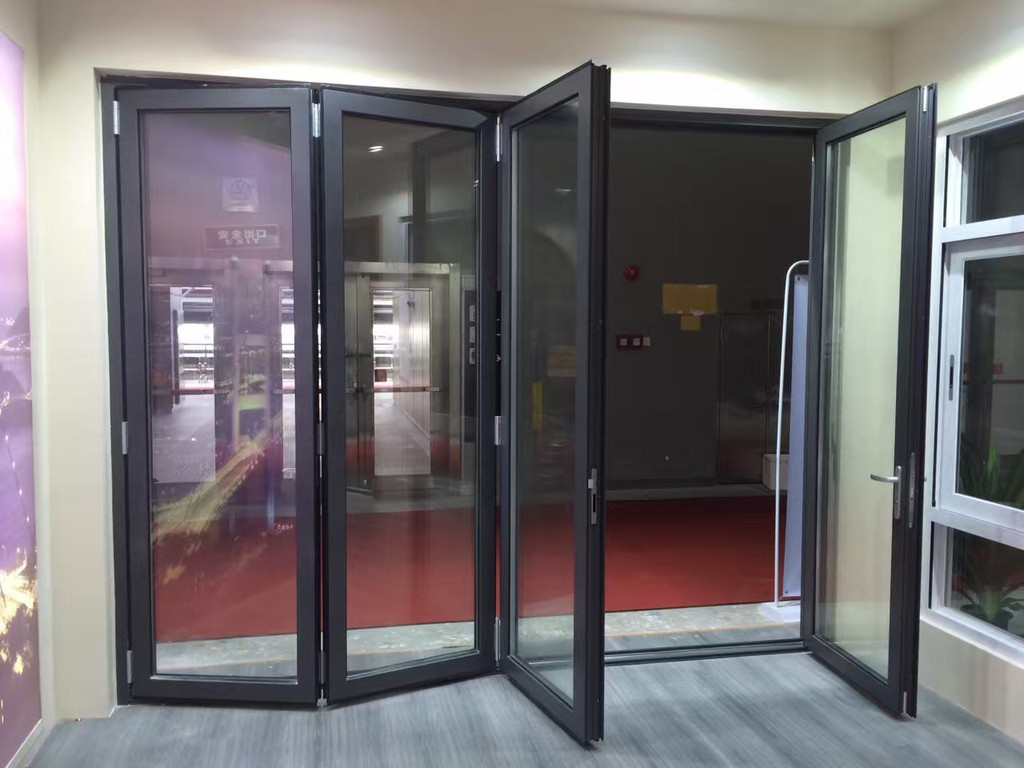 Professional manufacturera double glazing aluminium folding door