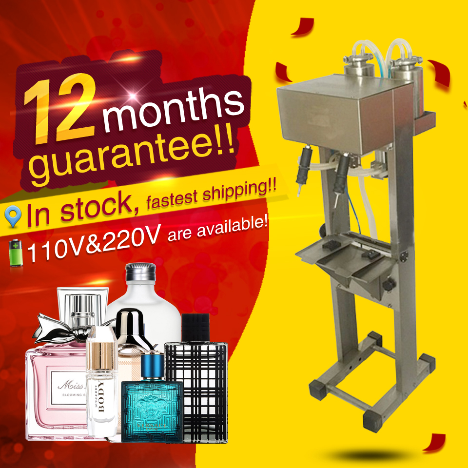 12 month guarantee,2 head perfume filling machine,pneumatic vacuum liquid filler