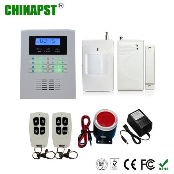 99 Wireless & 2 Wired Zones PSTN+GSM Home Alarm System