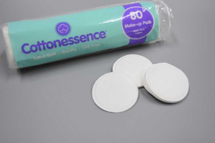 Round shape cosmetic cotton pad